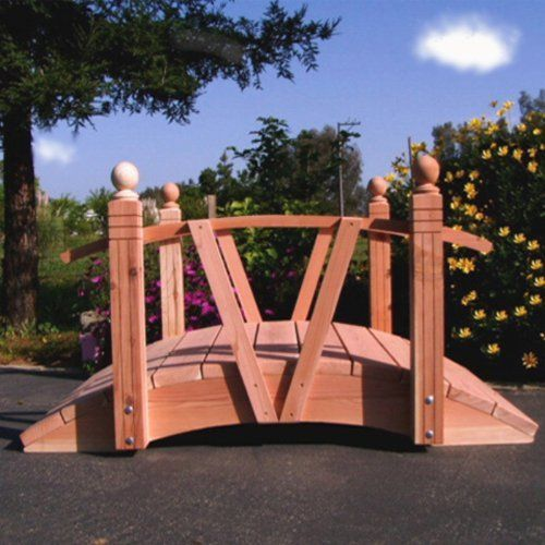 V Series Redwood Garden Bridge Size   4 Feet By Redwood. $977.98. Angled  Rails Draw Attention To The Bridgeu0027s Charming Details. Crafted From Durable  Wood.