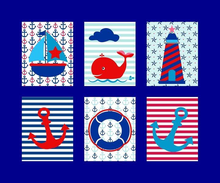 Kinderzimmer poster bilder set maritim a3 maritim - Kinderzimmer bilder set ...