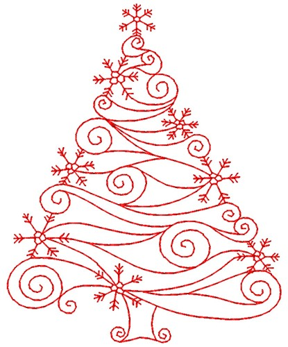 Swirly Christmas Tree Embroidery Designs Machine Embroidery Designs Machine Embroidery Christmas Christmas Tree Embroidery Design Christmas Embroidery Designs
