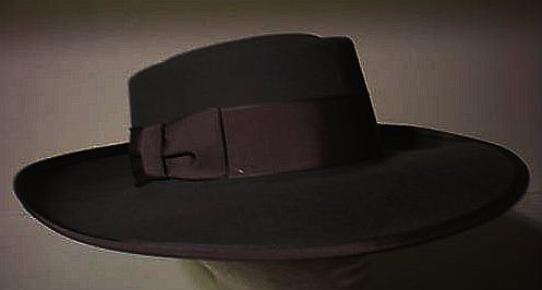 Black Pachuco Mexican Gangster Zoot Suit Hat Broadway Hats by Caliqo Magill   0deba74c8e1