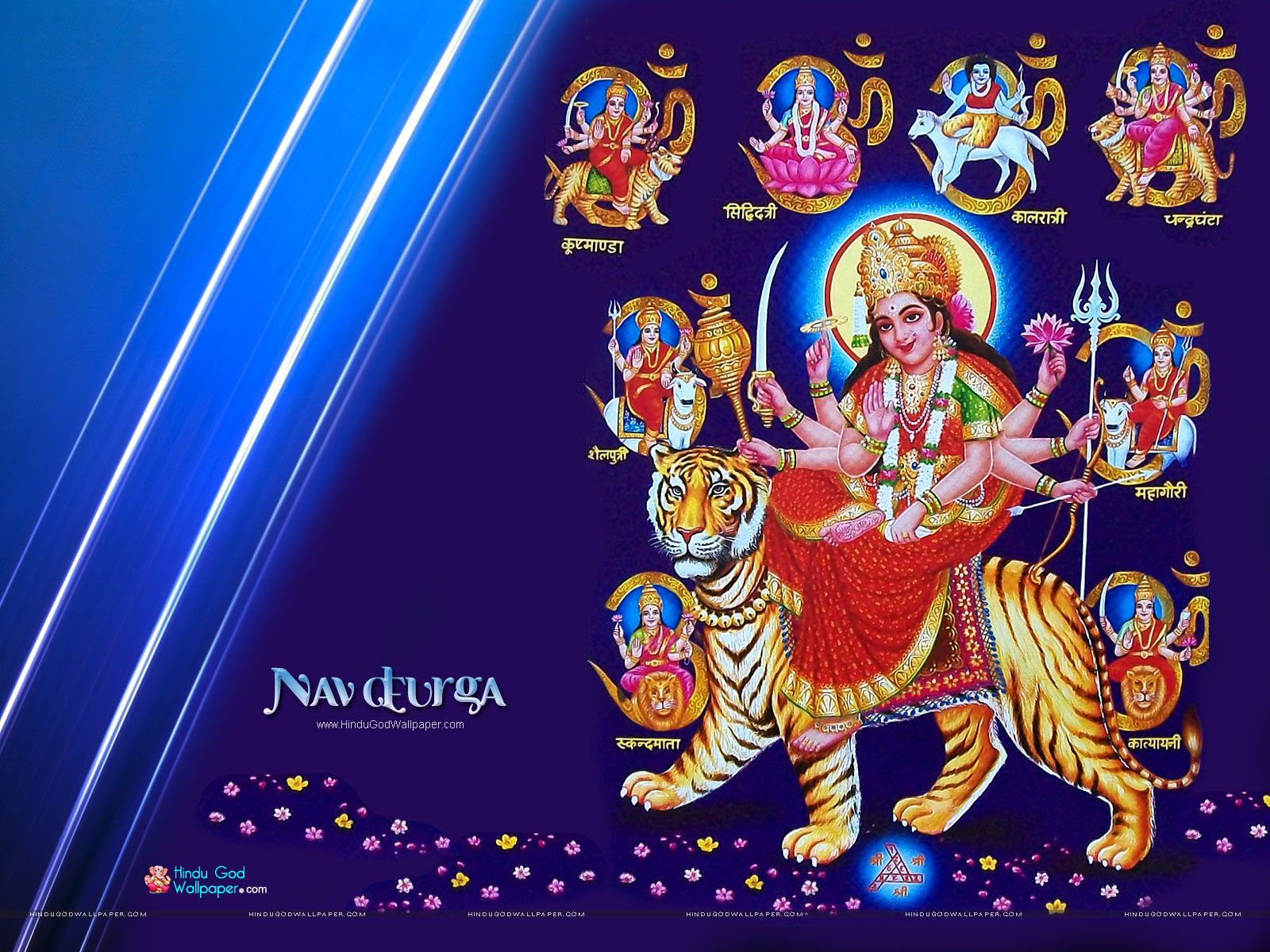 Maa Durga 9 Roop Wallpaper Free Download