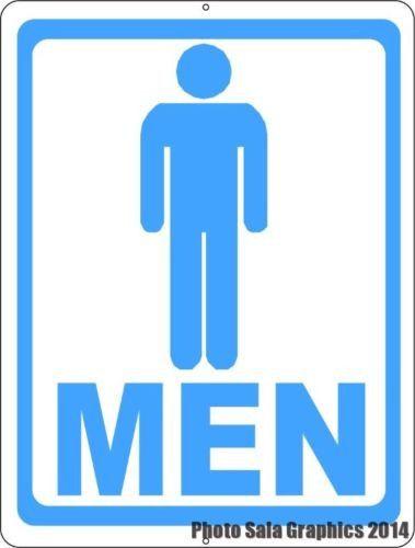 Mens Room W/ Symbol Bathroom Sign