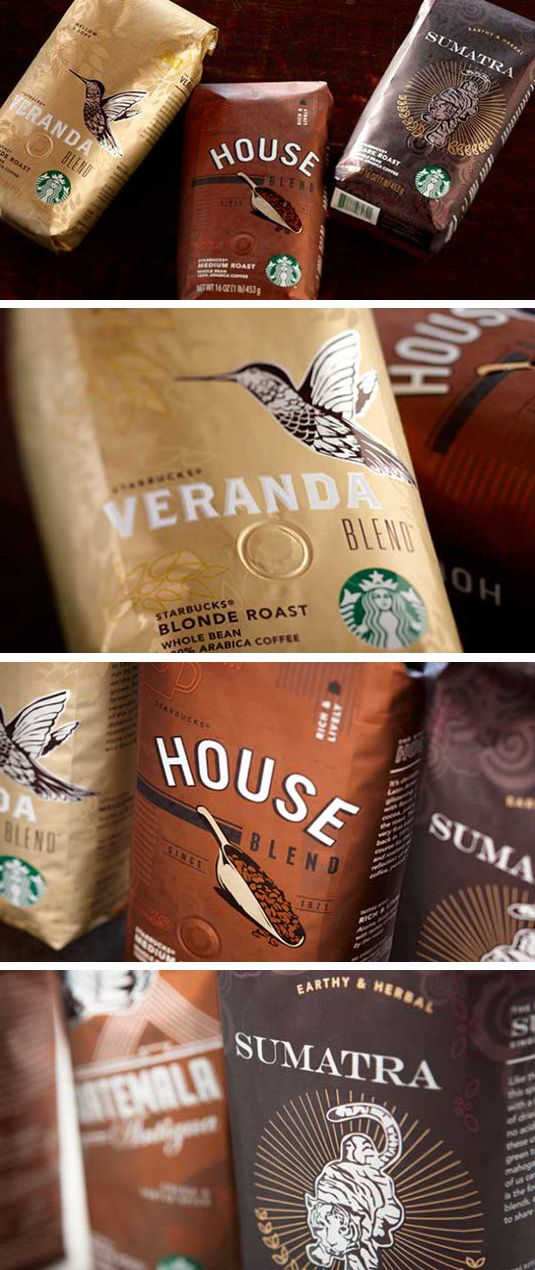 Packaging for relaunch of Starbucks Reserve, and grand