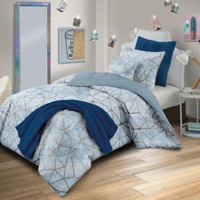 Haydee 5 Piece Reversible Twin Xl Comforter Set In Blue In 2020