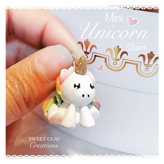 Litlle Unicorn Necklace,Cute Litlle Unicorn,Polymer Clay Unicorn Necklace,Birthday Gift,Kawaii Necklace,Gifts For Her,Funny Litlle Pony