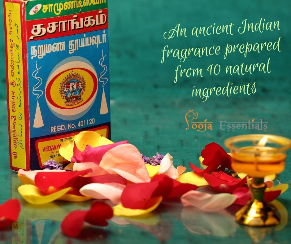 Chamundeswari Dasangam Dhoop Powder is formed into cone using a