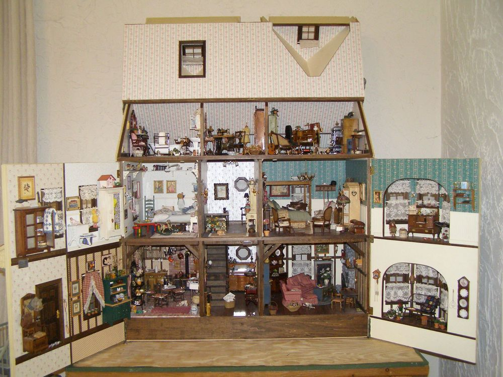 1:12 SCALE MINIATURE BOOK AMERICAN COLONIAL PAPER HOUSE DOLLHOUSE
