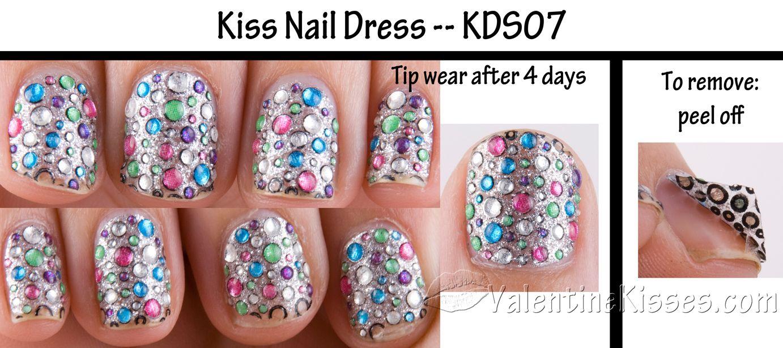 Image detail for -Valentine Kisses: Kiss Nail Dress - design KDS07 ...