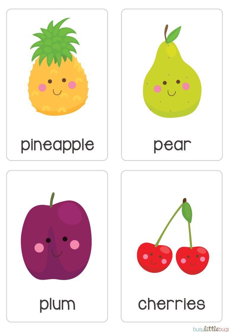 Fruit Vegetable Flash Cards Automatic Download Ingles Para Preescolar Fichas Tarjeta En Ingles