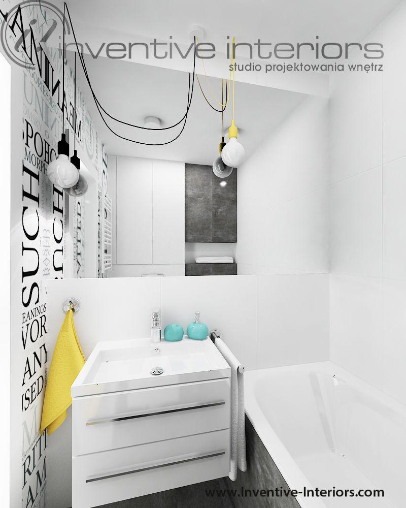 Projekt łazienki Inventive Interiors Wesoła łazienka Dla