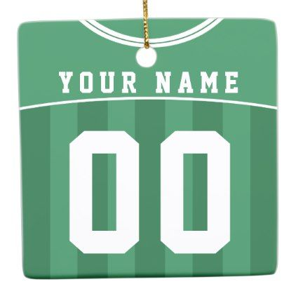 Soccer Football Jersey Name  Number Template Ceramic Ornament