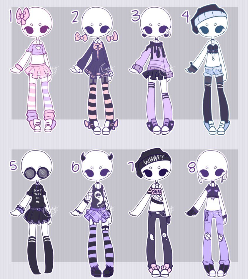 Outfit adopts: PASTEL CASUAL CLOSED by Lunadopt.deviantart.com on @DeviantArt