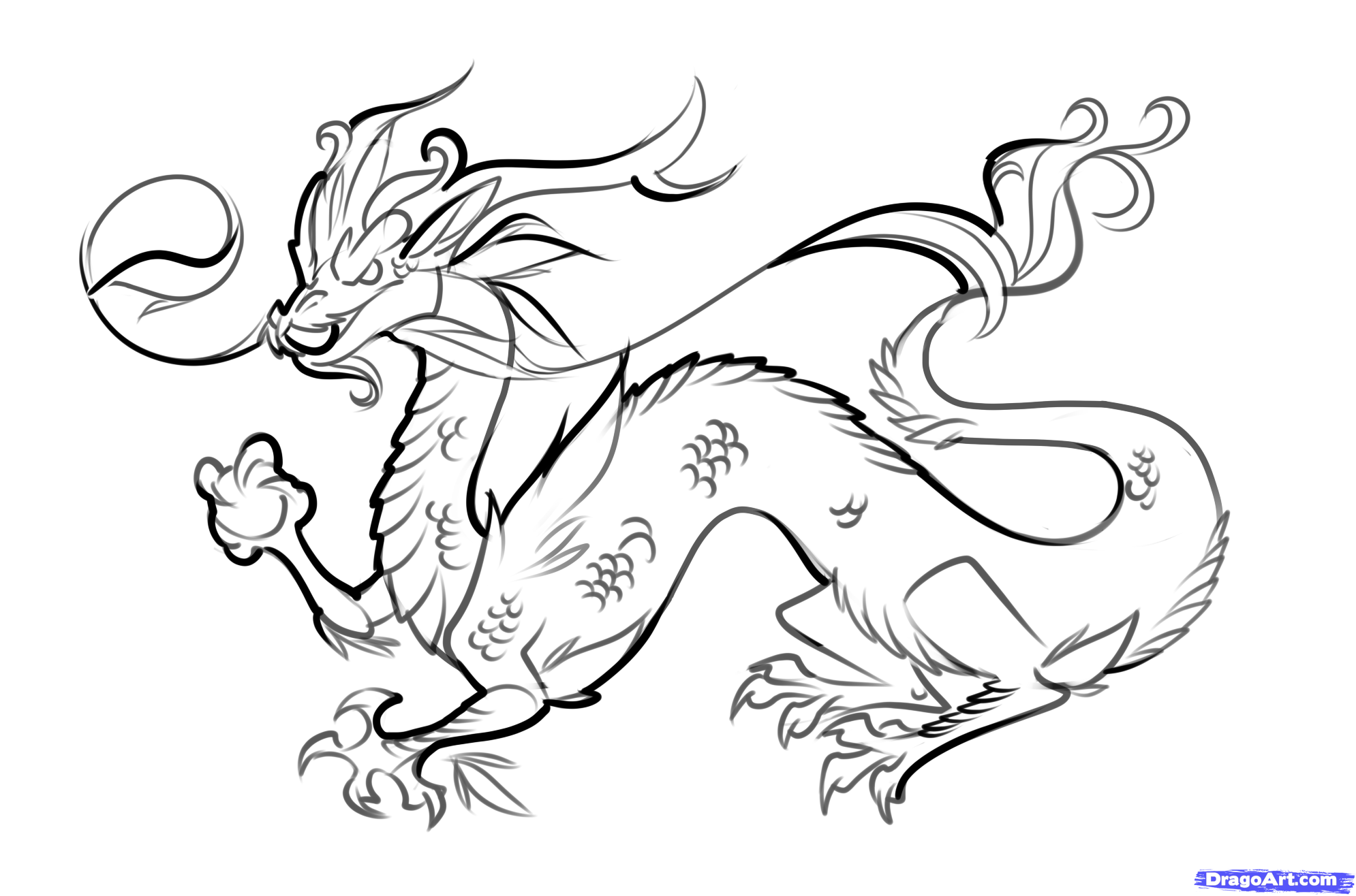 How to draw easy dragons step by step to draw a chinese dragon easy step by step dragons draw a dragon
