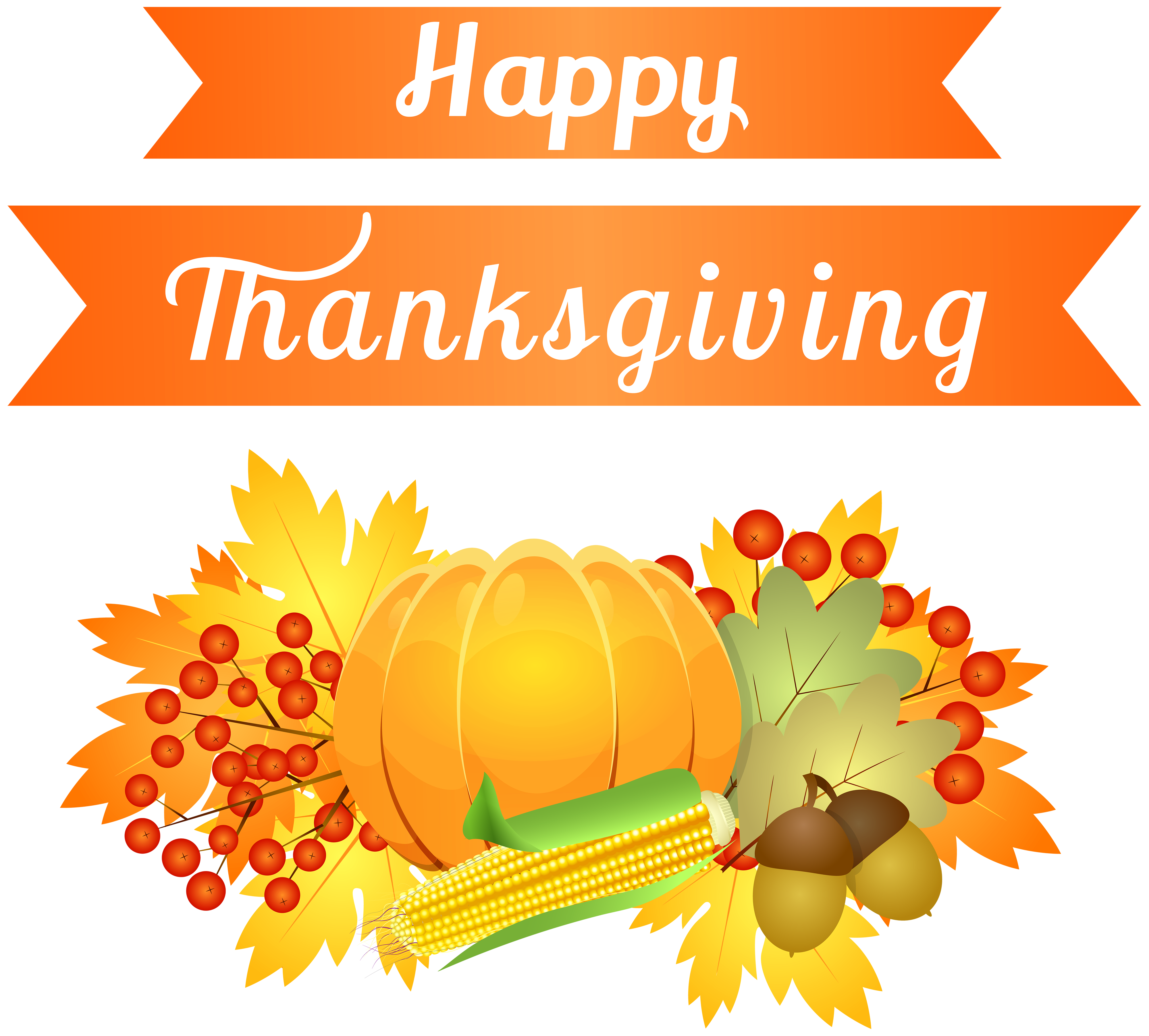 Happy Thanksgiving Decoration Png Image Transparent Free ...