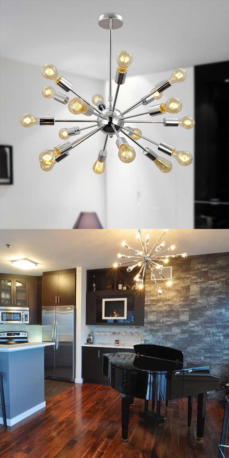 Modern Metal Spike Chandelier