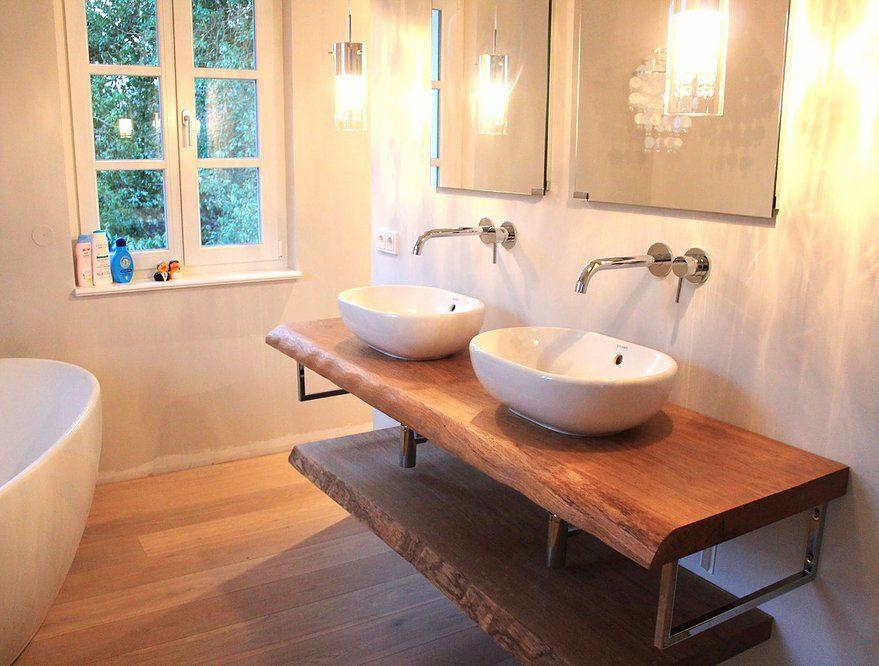 konsole waschtisch waschtischplatte massiv eiche rustikal. Black Bedroom Furniture Sets. Home Design Ideas