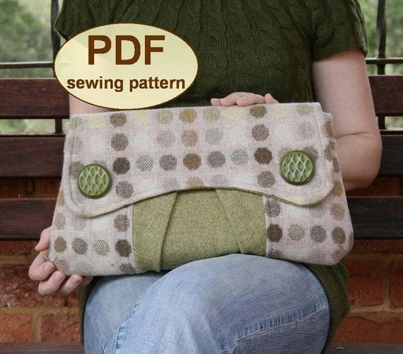Sewing pattern to make the Casablanca Clutch Bag - PDF pattern ...