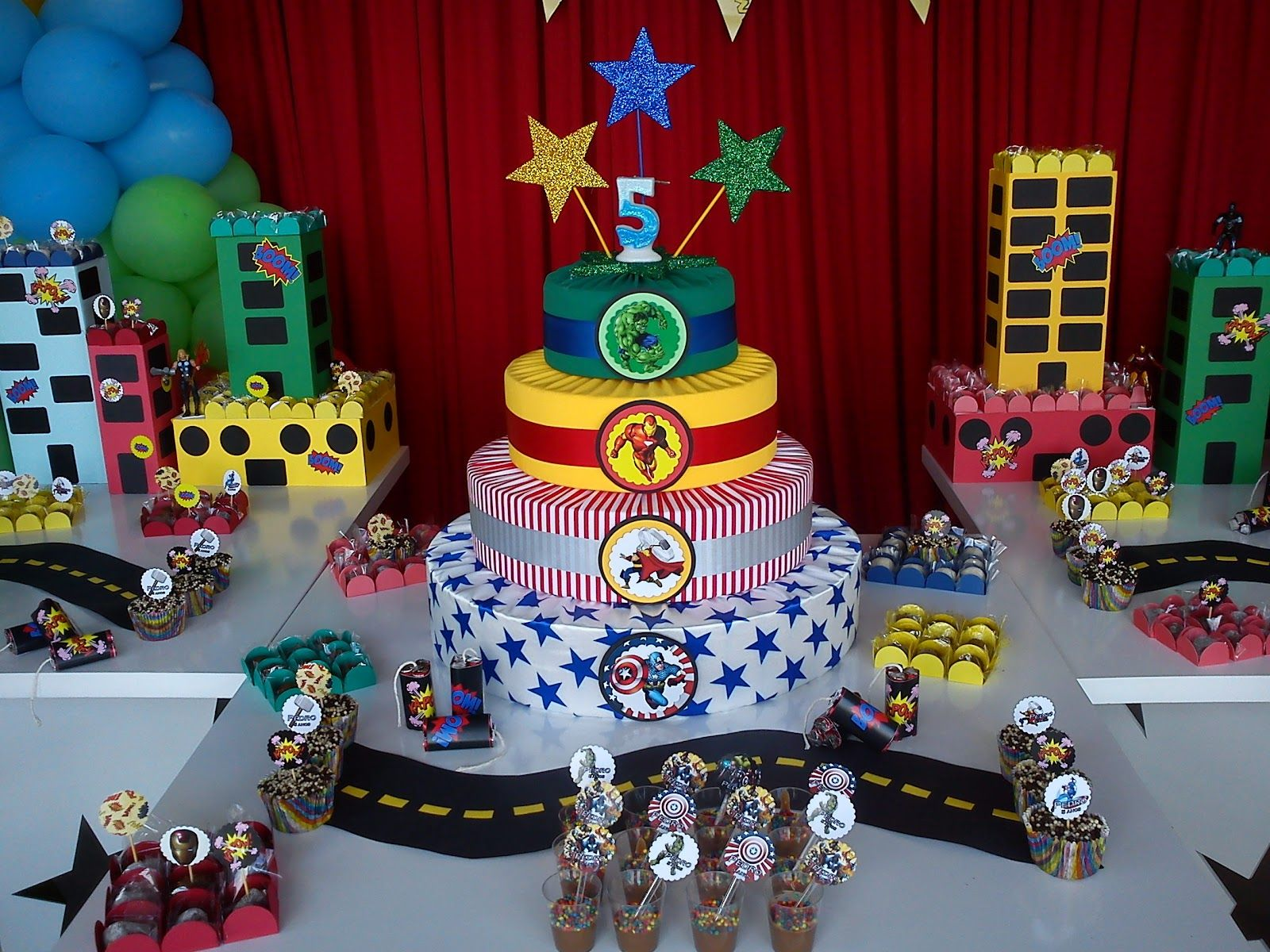 Avengers Party Decorations Avenger Decorating Ideas Pesquisa Google Aniversrio De