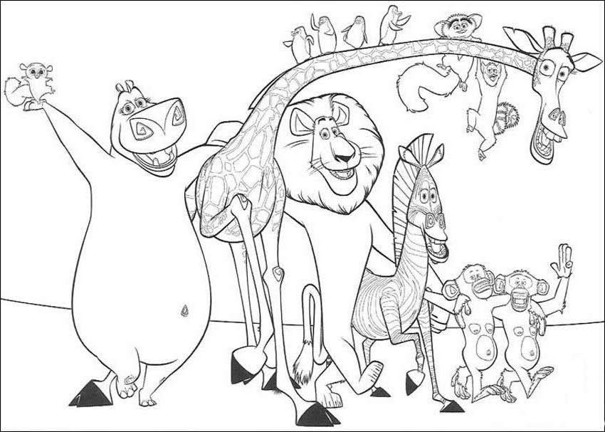 madagascar coloring pages for kids - photo#14