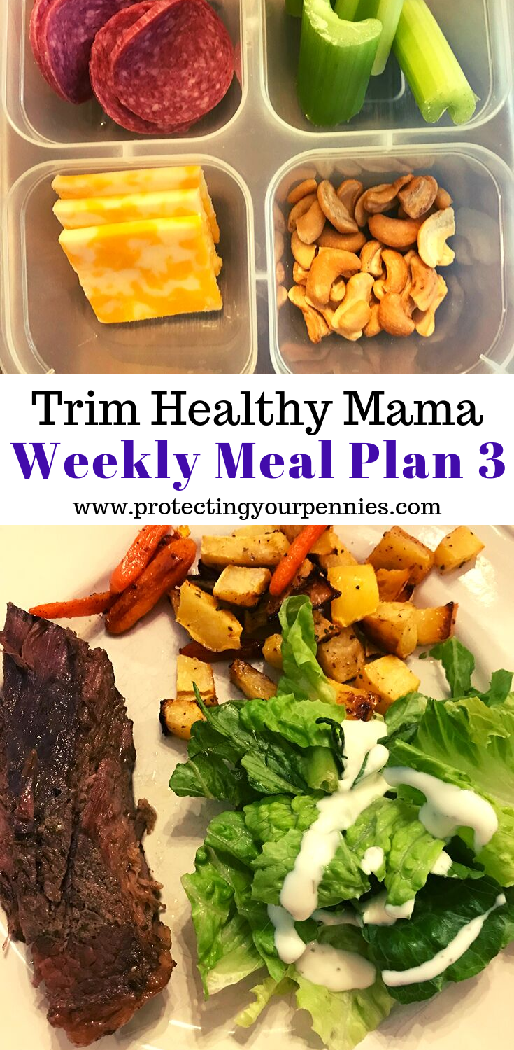 Trim Healthy Mama Weekly Meal Plan 3 - Protecting Your Pennies #ketomealplan