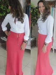 Resultado de imagem para saias longas estampadas com blusas curtas