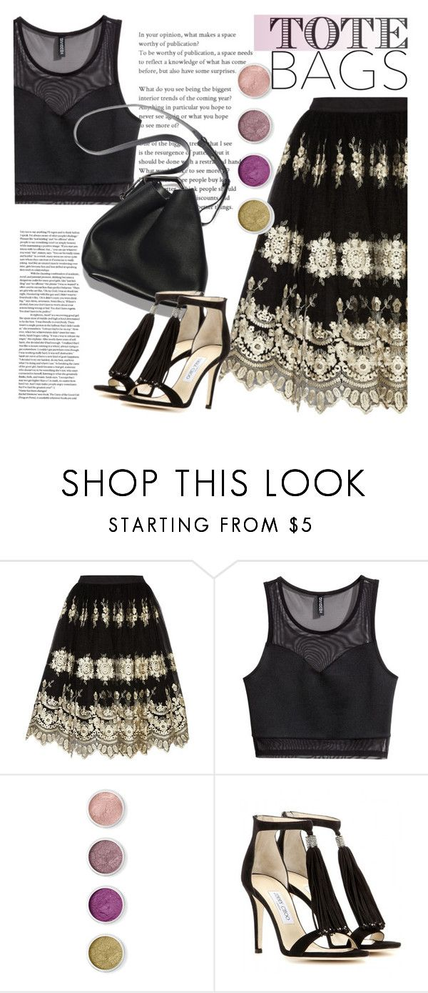"""""""Summer Tote"""" by clotheshawg ❤ liked on Polyvore featuring Alice + Olivia, H&M, Terre Mère, 3.1 Phillip Lim and Jimmy Choo"""