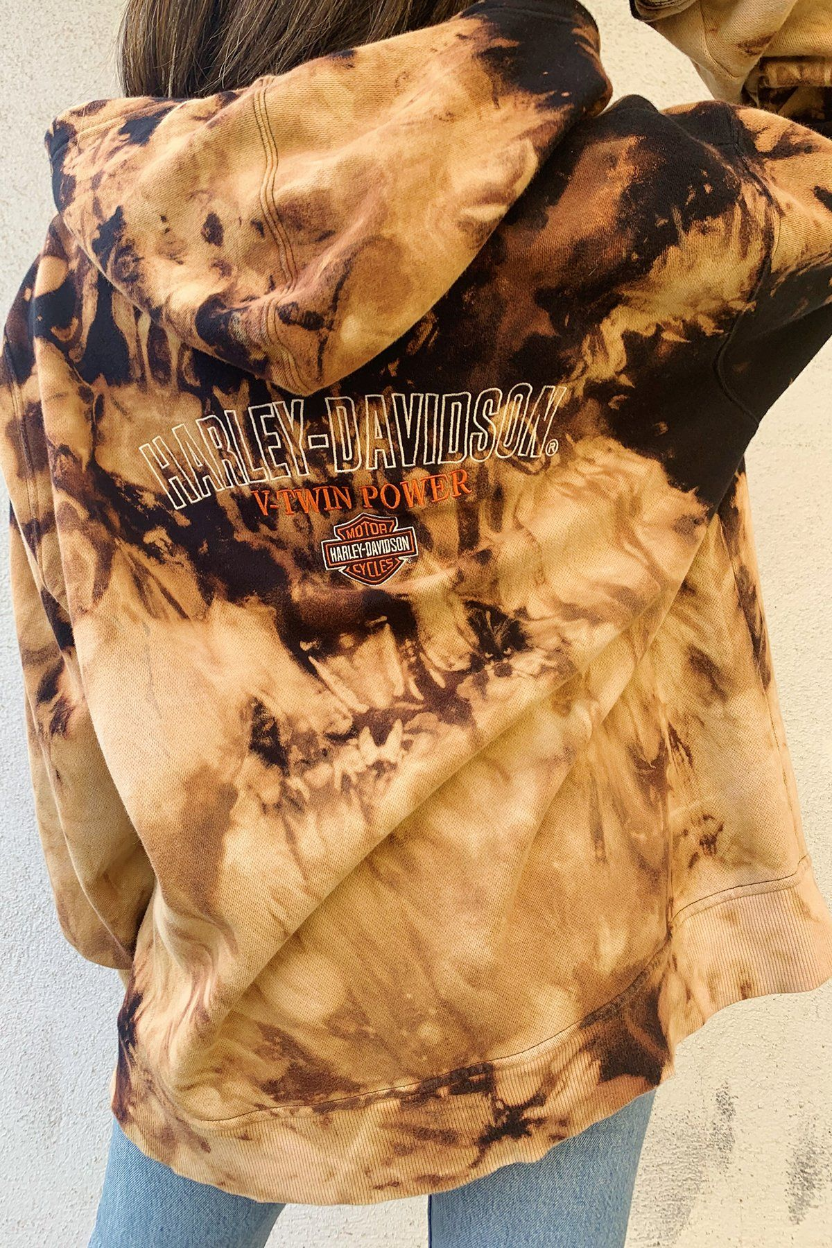 Fawkes vintage tie die zip up hoodie rebelflow bleach