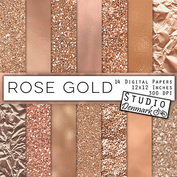 b5f05977 Rose Gold Foil and Glitter Textures - Rose Gold Digital Paper - Warm Gold  Backgrounds - Gold Glitter Backgrounds - Instant Download