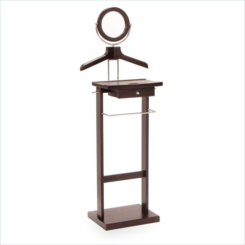 Shop Valet Stand With Wood Base By Winsome At Furniture Sale Prices From  Our Valet Stands Department Or Compare By SKU 92155 Online At OneWay  Furniture.