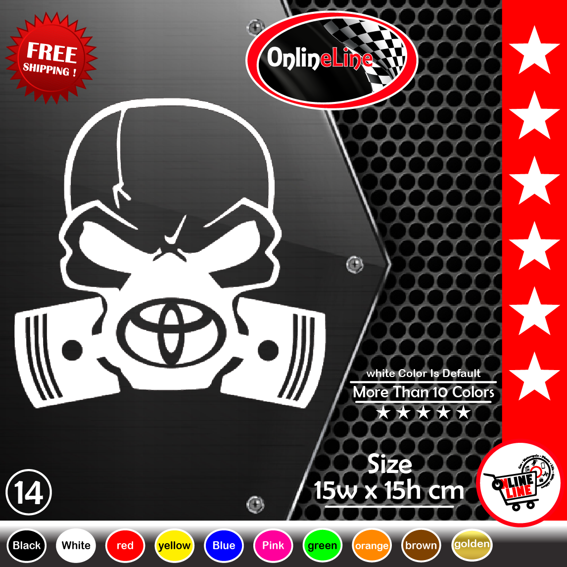Ebay toyota skull piston gas mask sticker window vinyl decal sport supra corolla rav4