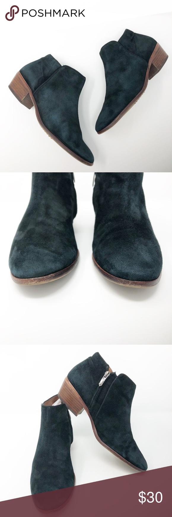 98273b69362d  Sam Edelman  Black Suede Petty Ankle Boots Sam Edelman Size 9.5 M Black  Suede