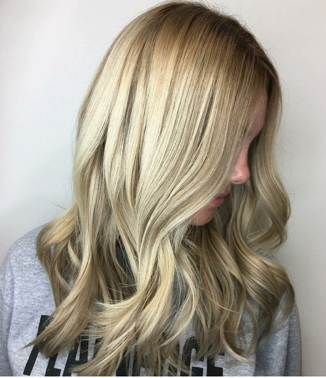 Medium ash blonde with highlights, lowlights, and a shadow root ...