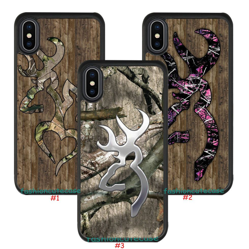 Browning camo rubber phone case cover for iphone 8 8 plus