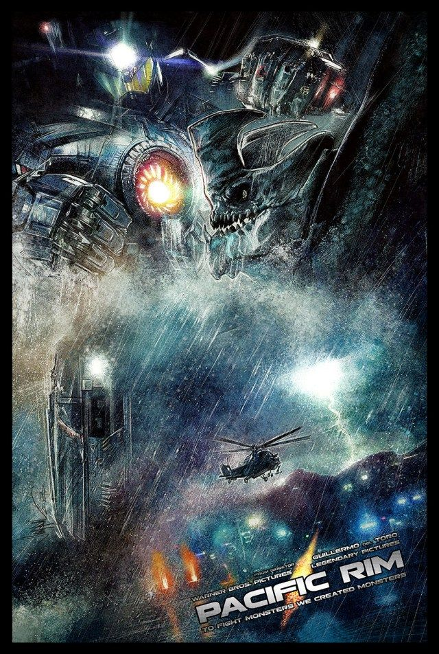 Pacific Rim Awesome Scene POSTER