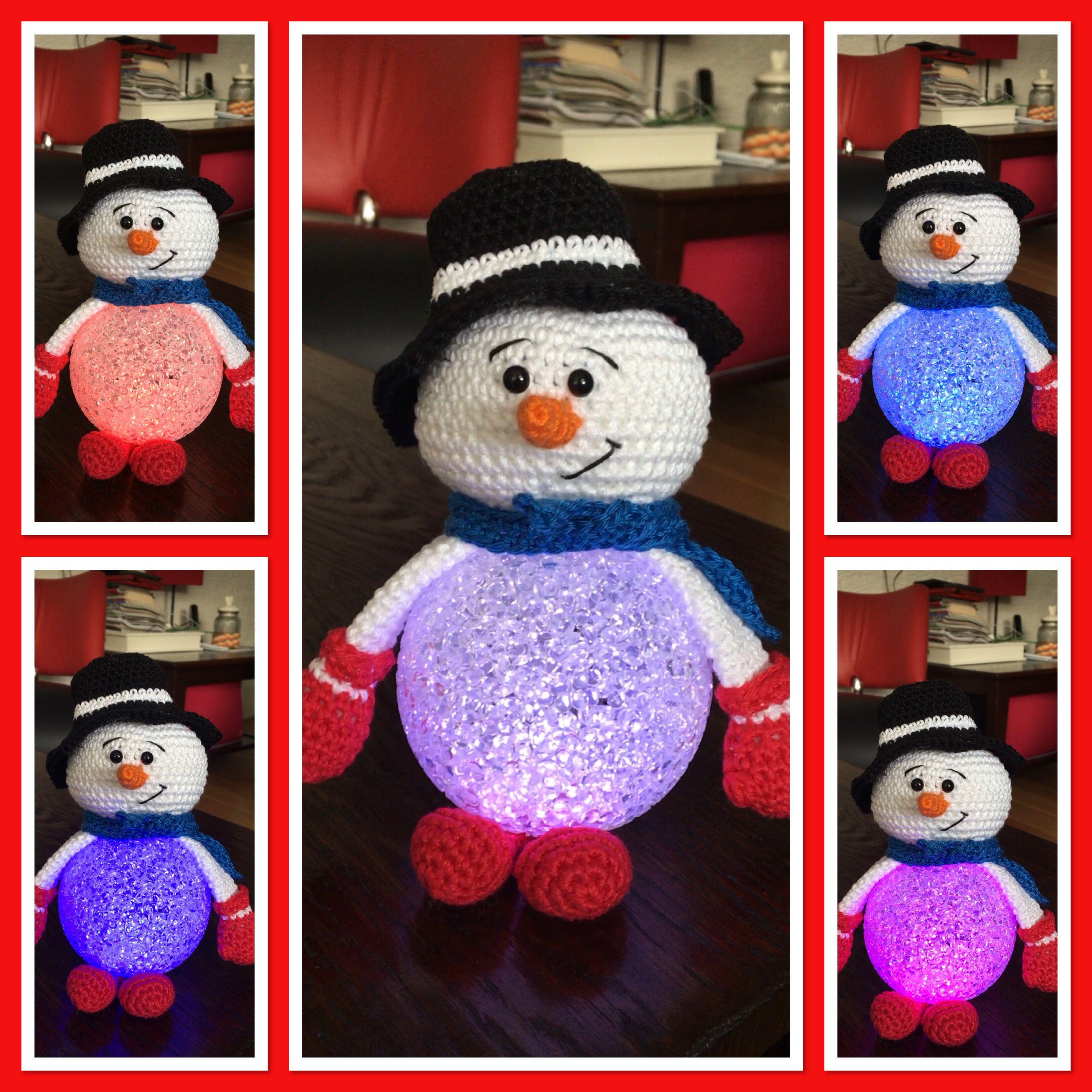 Sneeuwpop Ledbol Sneeuwpop Zelfgemaakt