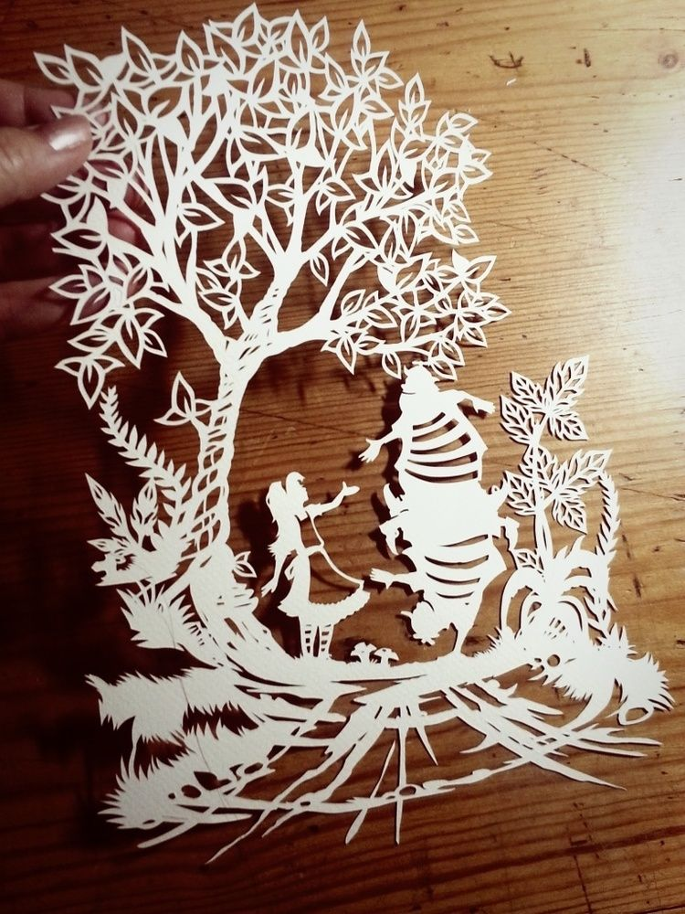 Image of Papercut DIY Design Template - 'Tweedledum and Tweedledee' Wonderland Inspired
