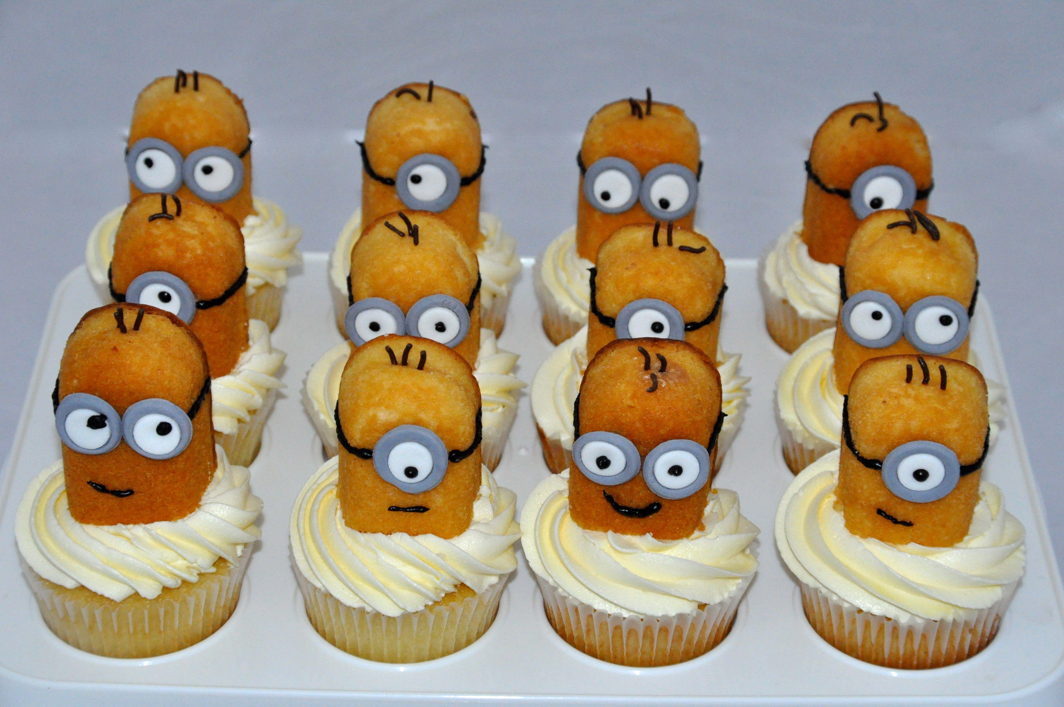 Twinkie Minion Cupcakes Cupcakes For Kids Minion
