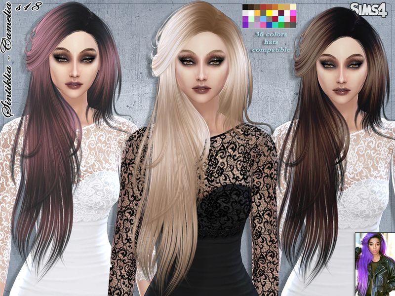 SintikliaSims' Sintiklia Hair s18 Camelia Sims