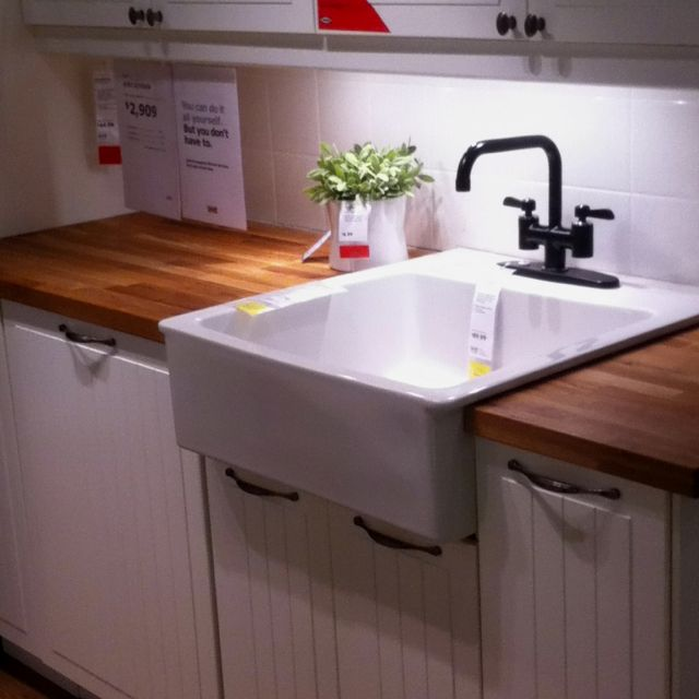 Farm House Kitchen Sink At Ikea!!! $179