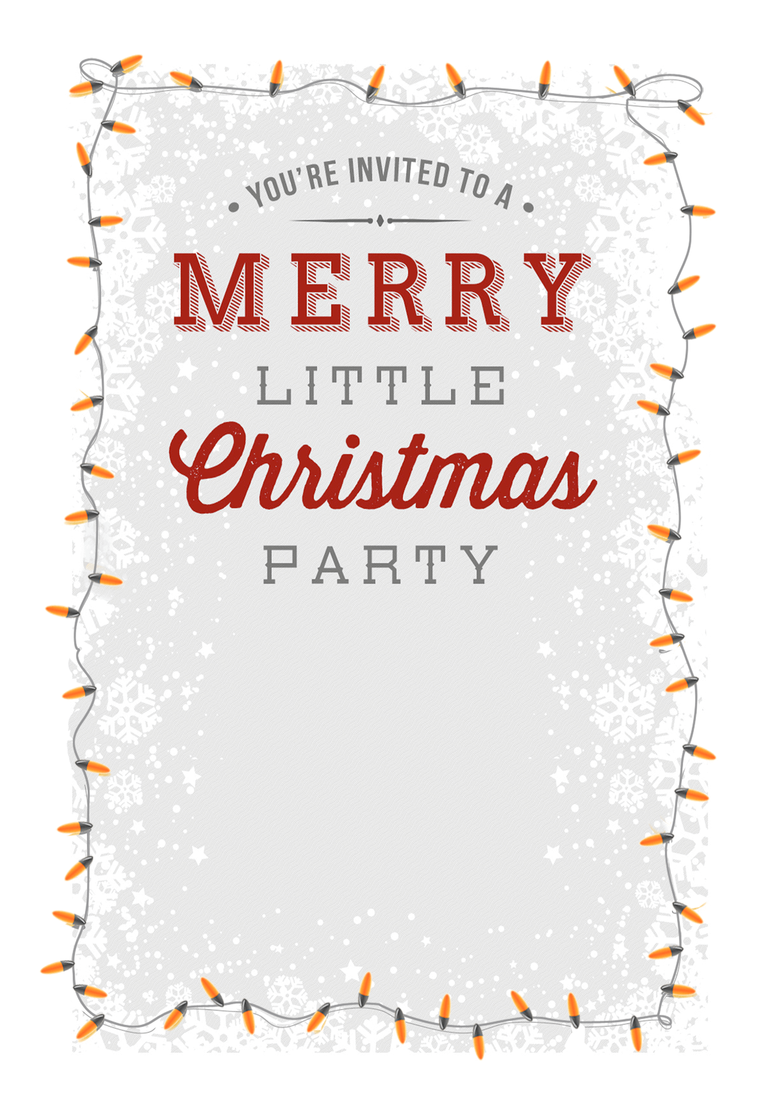 A Merry Little Party Free Printable Christmas Invitation Template Christmas Party Invitation Template Party Invite Template Christmas Party Invitations Free
