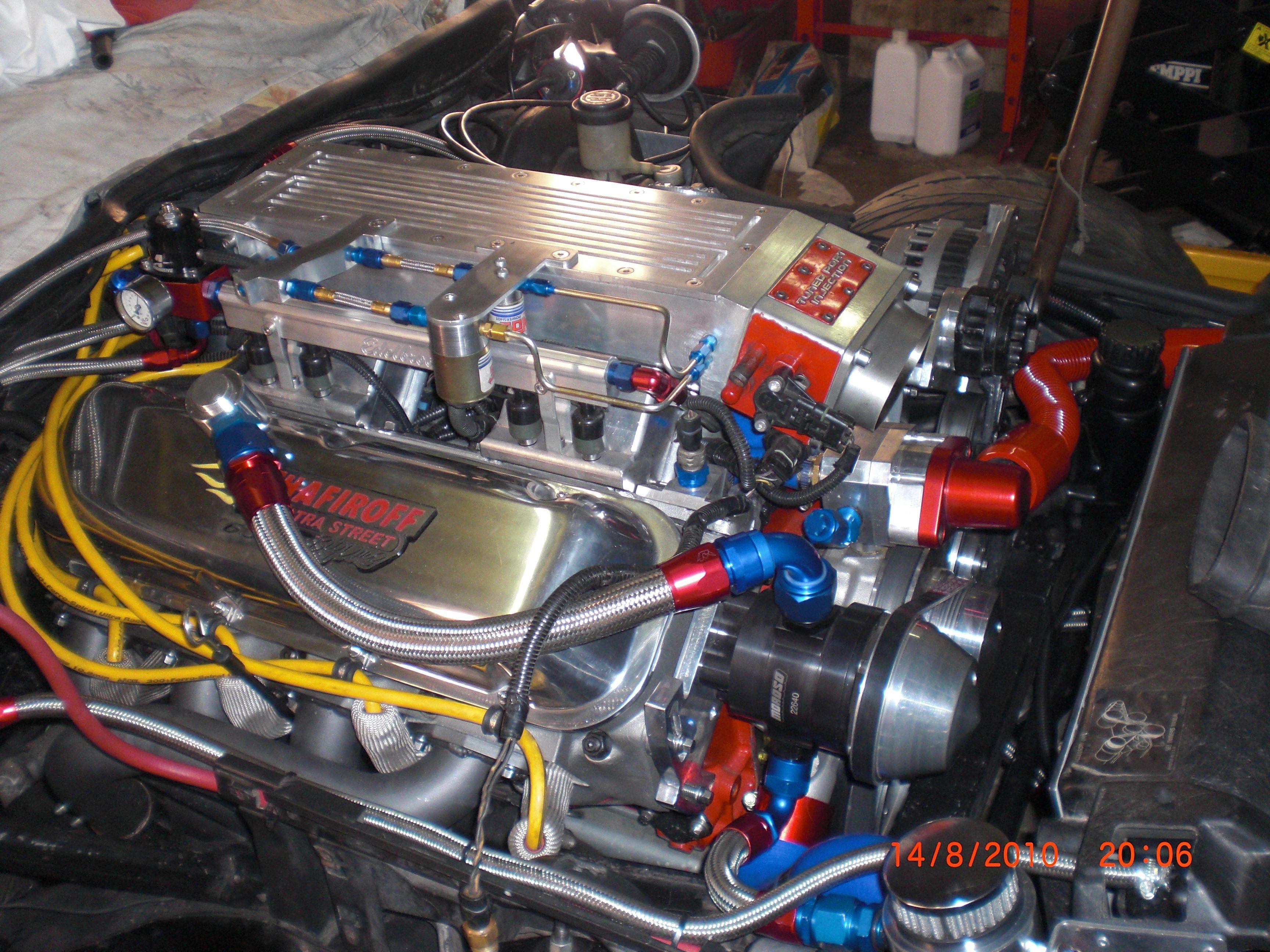 Big Block 632 cu in een Corvette C4