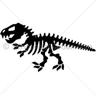 Dinosaur skeleton silhouette clip art. Download free