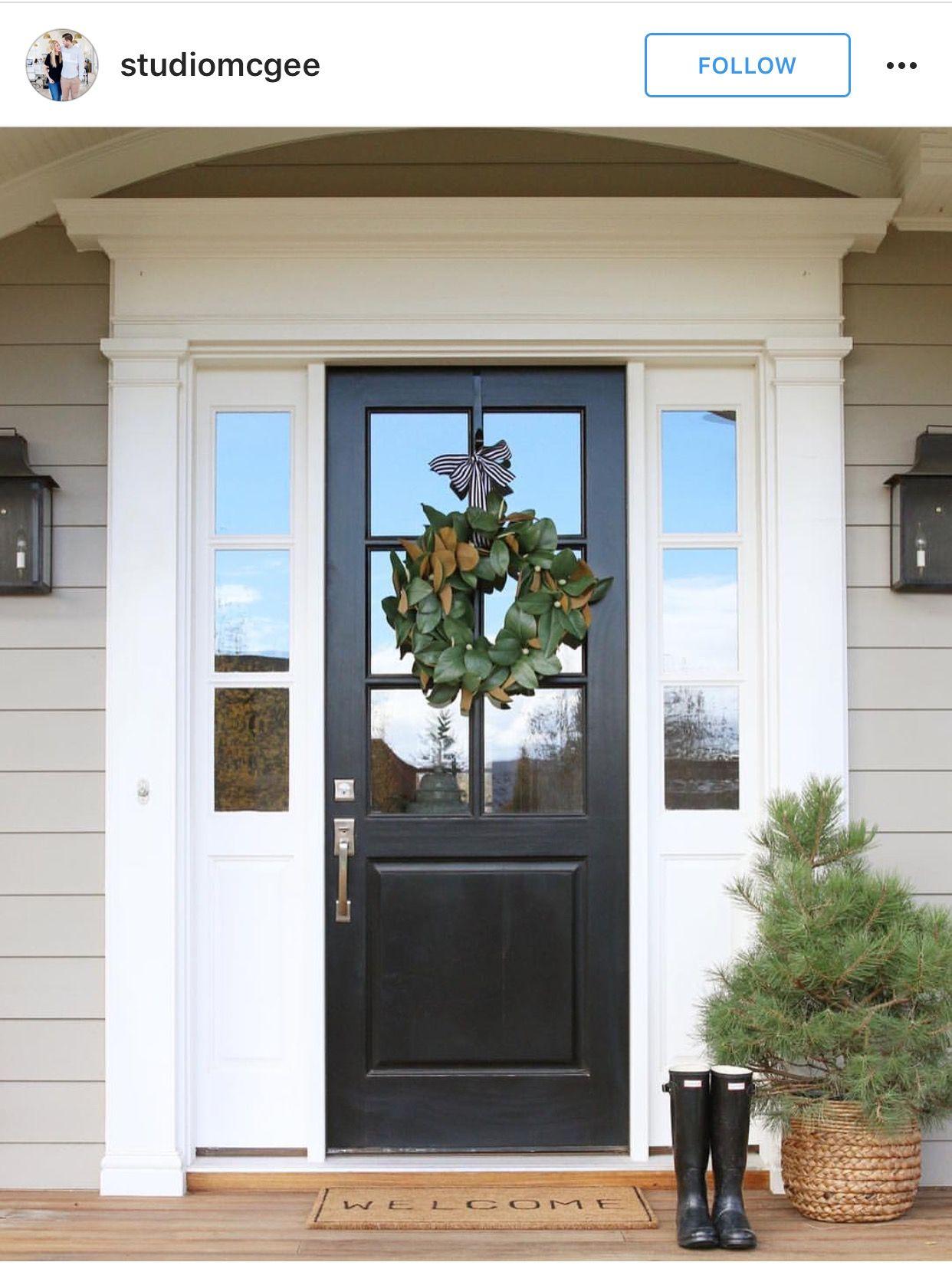 Pin By Karen Johnson On The Blaylock Build Front Door Paint Colors Painted Front Doors Front Door Design