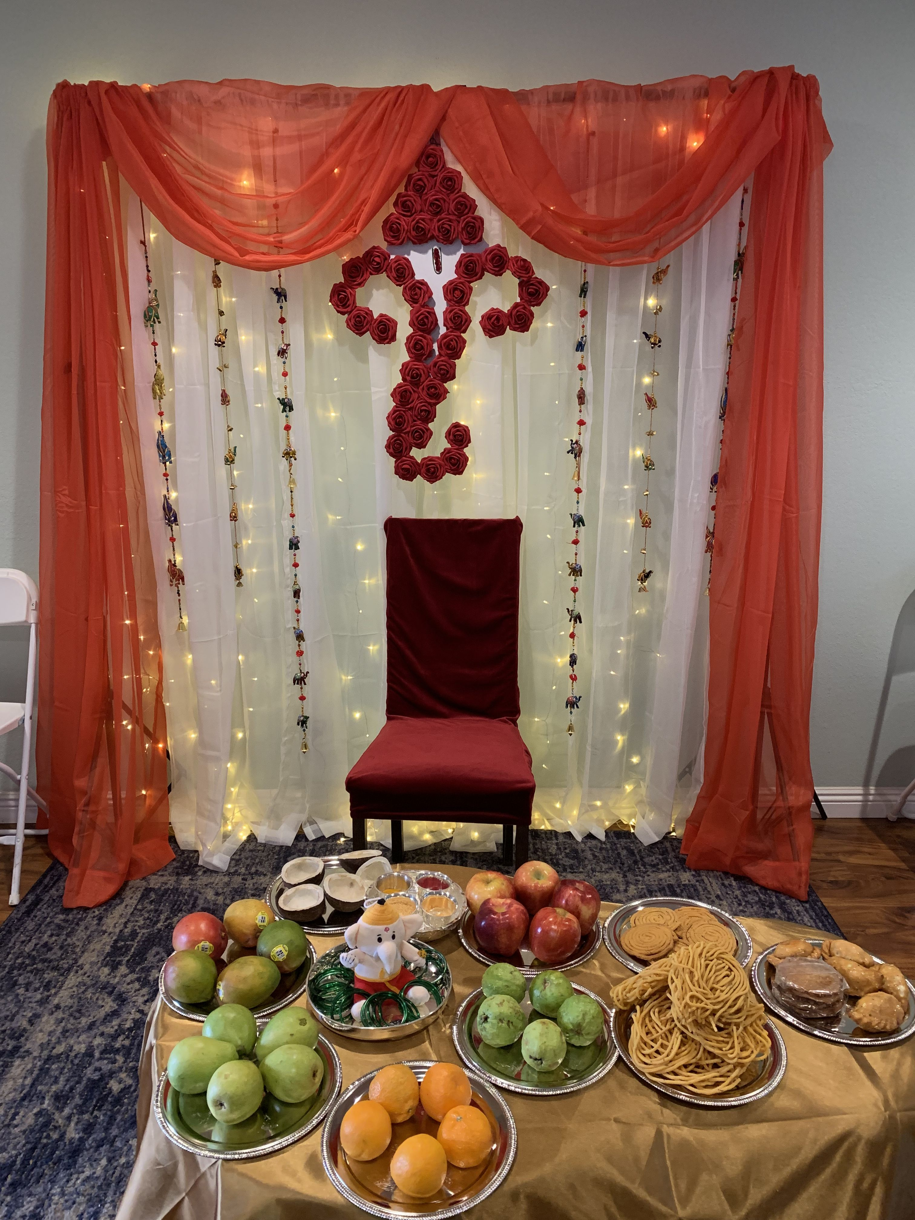 Seemantham Decoration Ganpati Decoration At Home Baby Shower