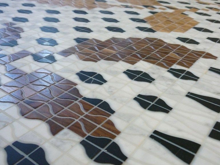 Marble and Wooden mosaic RAMAGE - Mosaico+