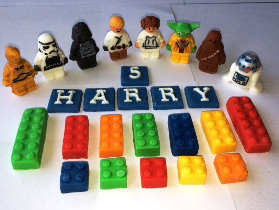 Edible Lego inspired Star Wars Cake Topper Star wars cake toppers
