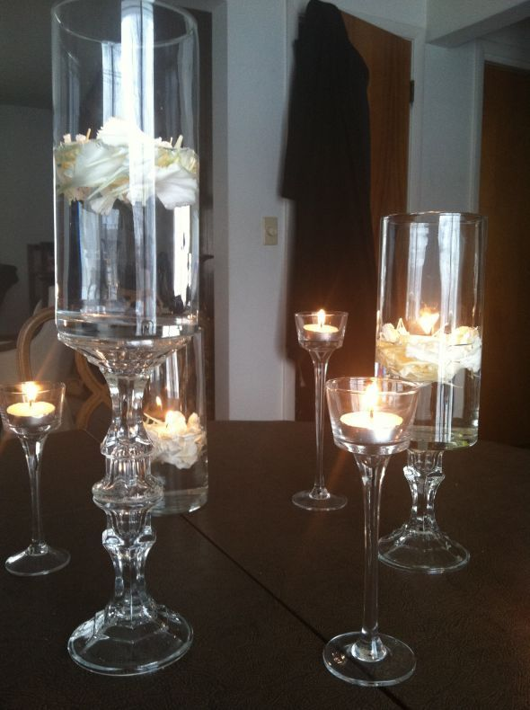 Diy Dollar Store Centerpiece Pics Included Weddingbee