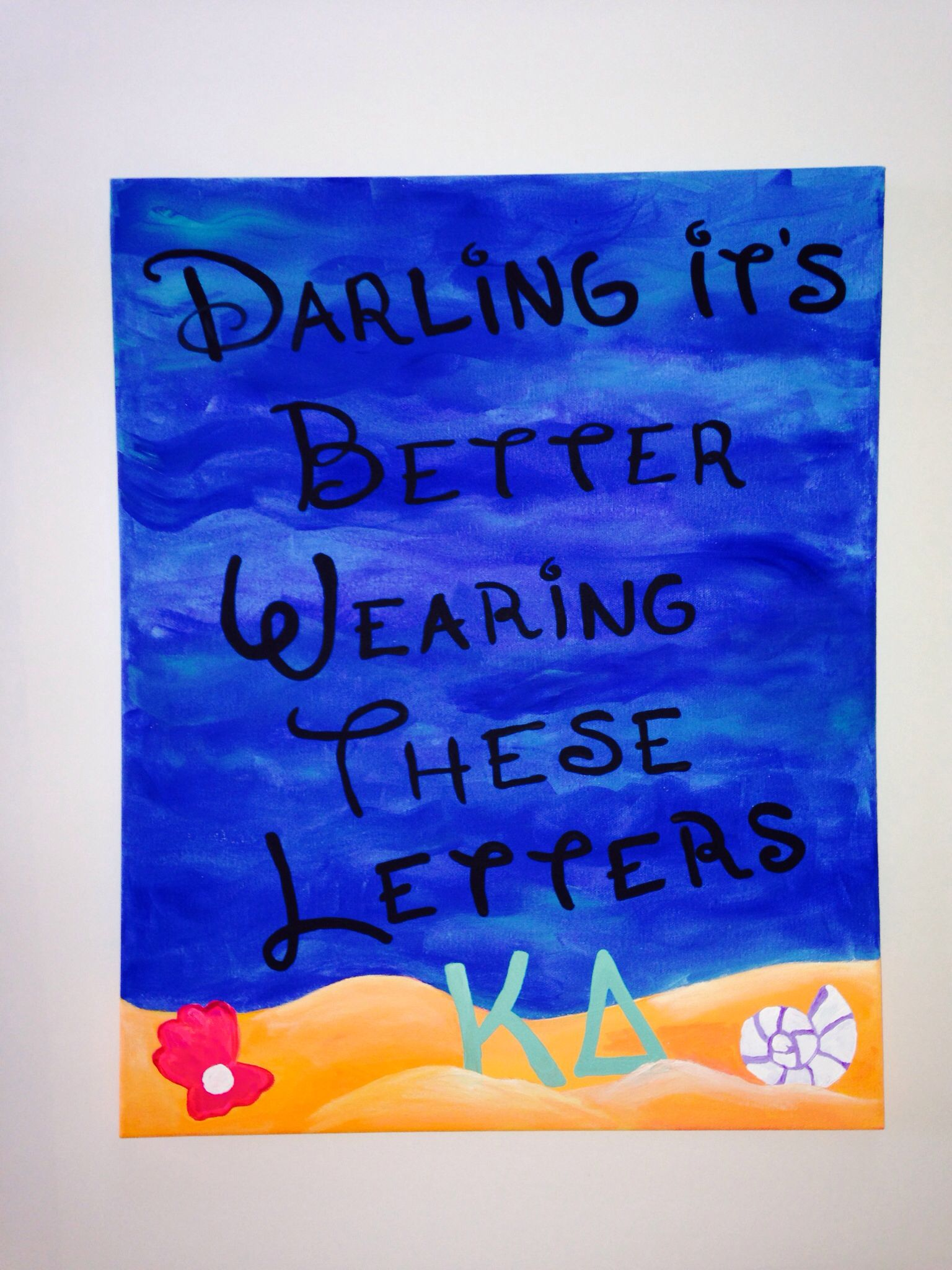 Kappa Delta big little crafts canvas board darling it's ... - photo#47