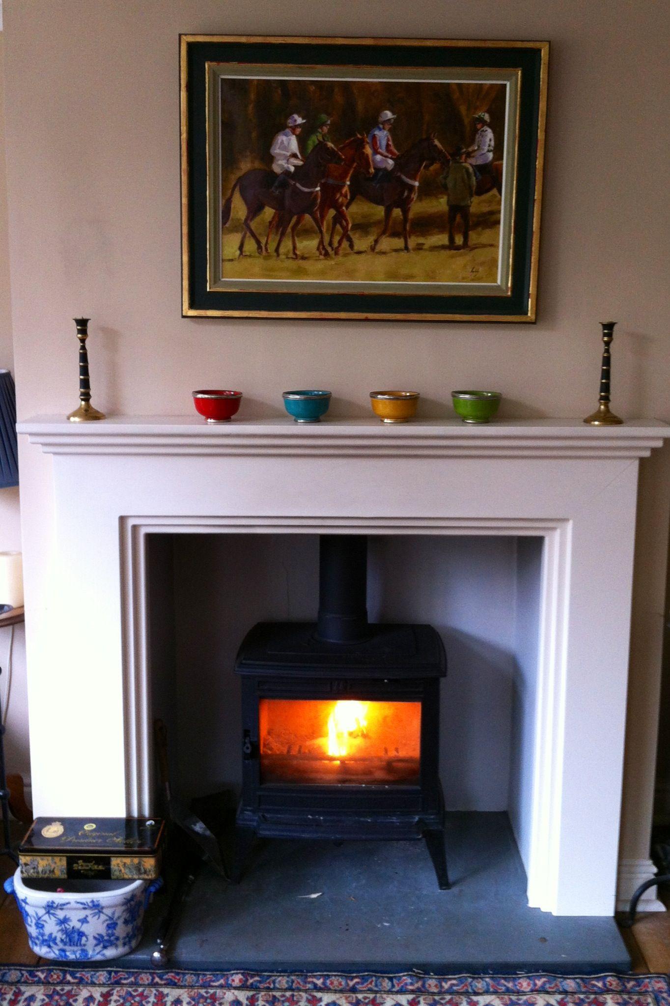 new chimney breast mantelpiece and log burner walls f archive rh pinterest com