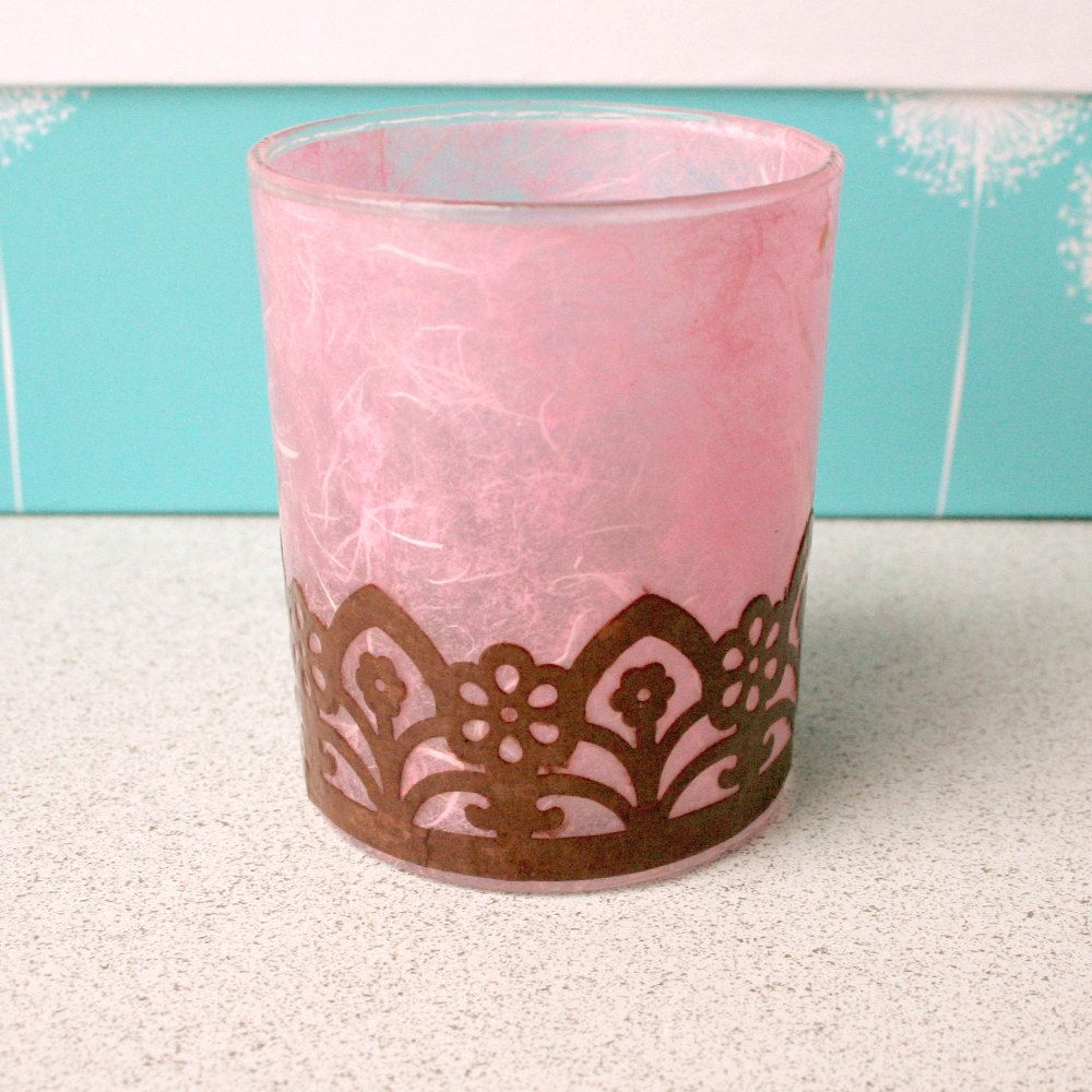 Victorian Wedding Decor Candle Holder with Pastel Rose Pink for ...